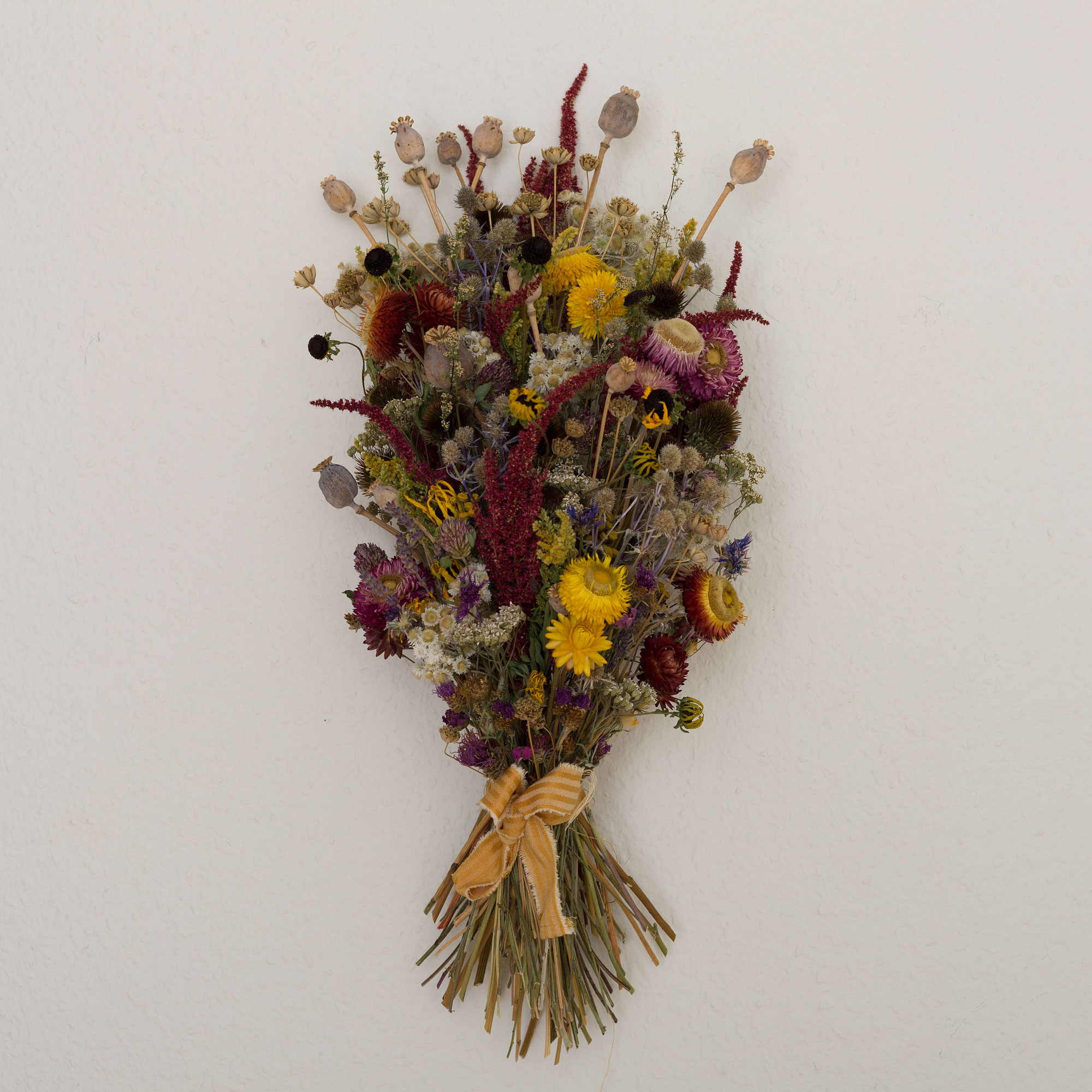 The boquet, 2019. Dried flowers picked during seven summers.