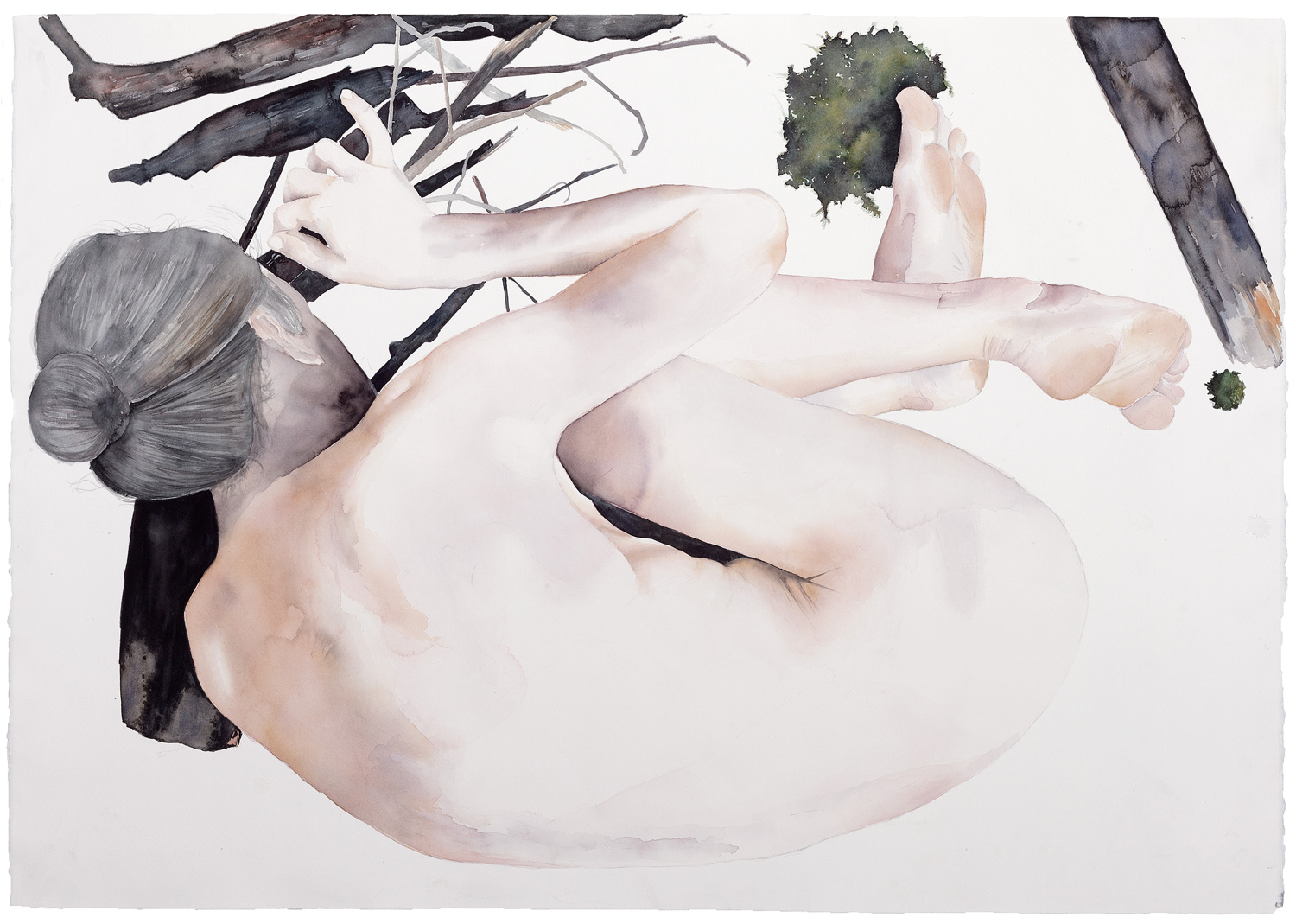 Rituals of transition #2, 2015. Watercolor on paper, 80 x 113 cm
