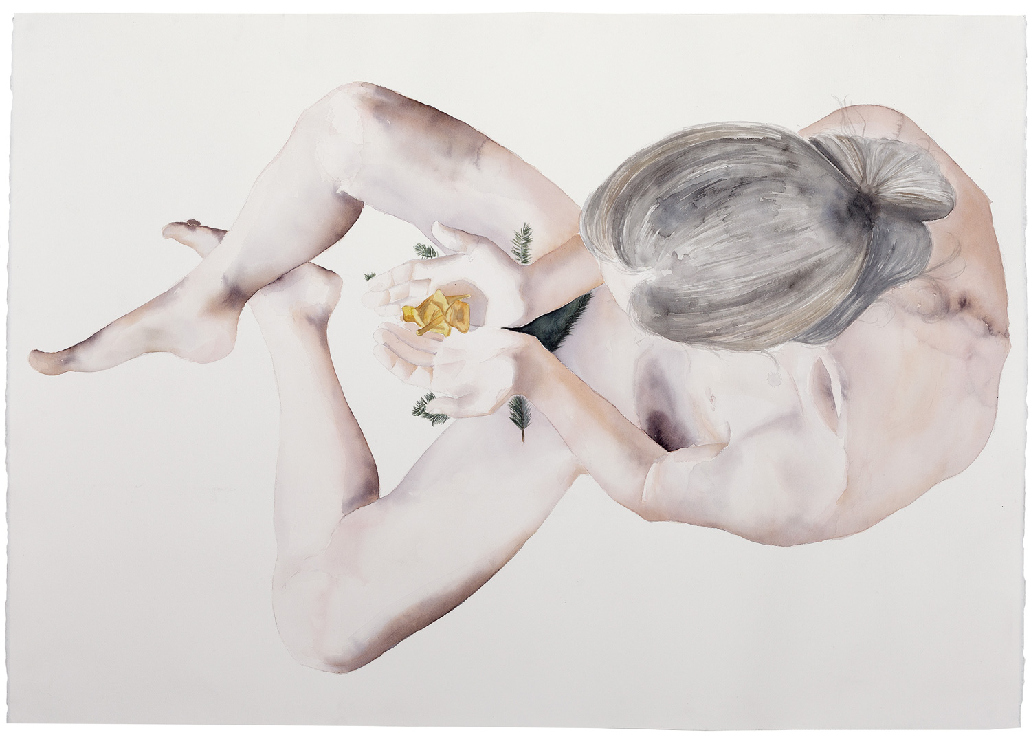 Rituals of transition #3, 2015. Watercolor on paper, 80 x 113 cm