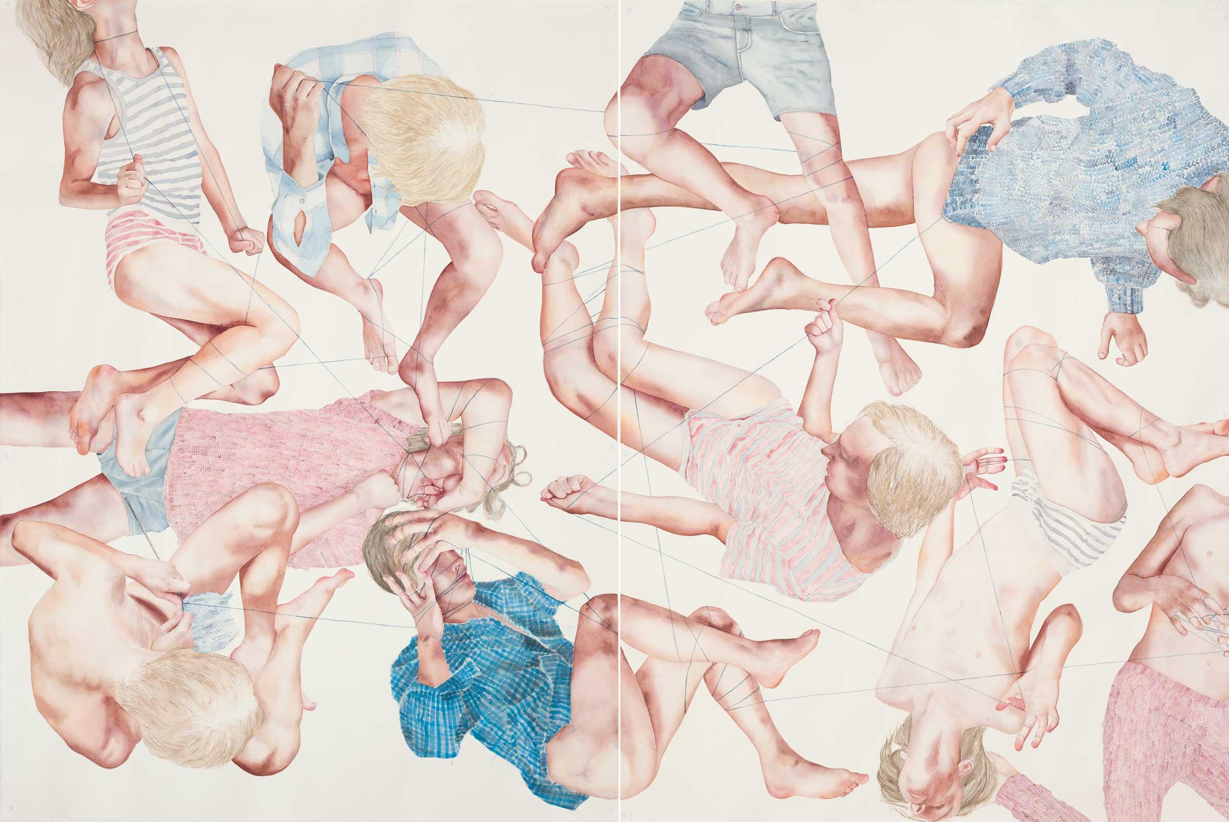 Juncture, 2016. Watercolor on paper. 150x224 cm